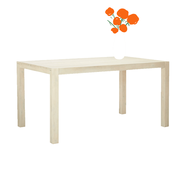 Matera Whitewash Dining Table image
