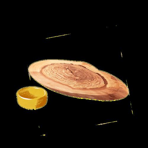 Wedge Olive Wood Serving Board image