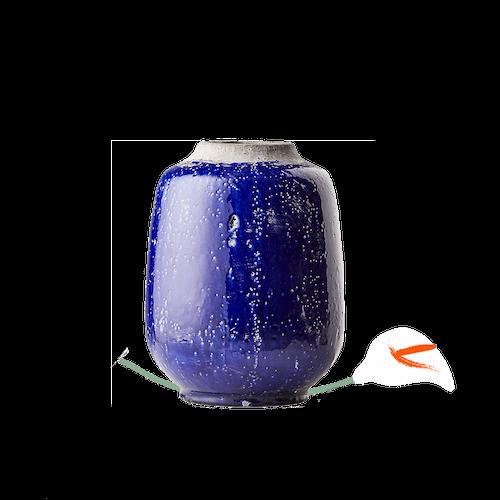 Jacque Blue Glazed Vase image