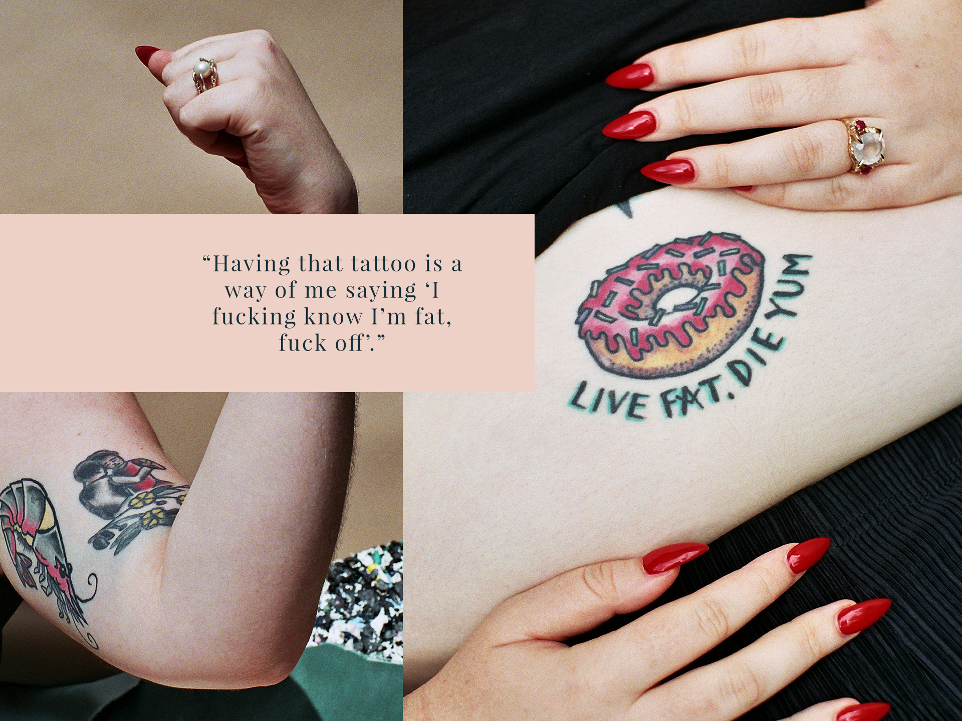 Tattoo meaning young women trend body image photos for Places to hide tattoos