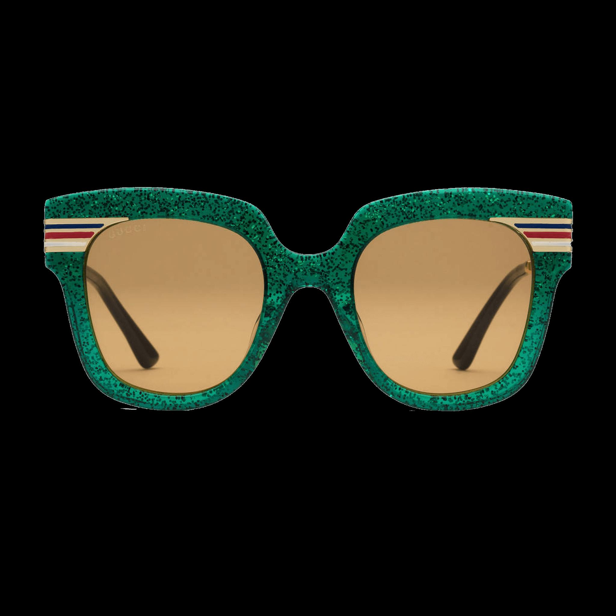b047ead165a Square-frame glitter acetate sunglasses