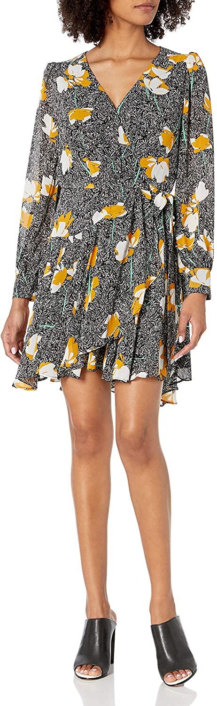 ASTR Long Sleeve Aja Mini Wrap Dress
