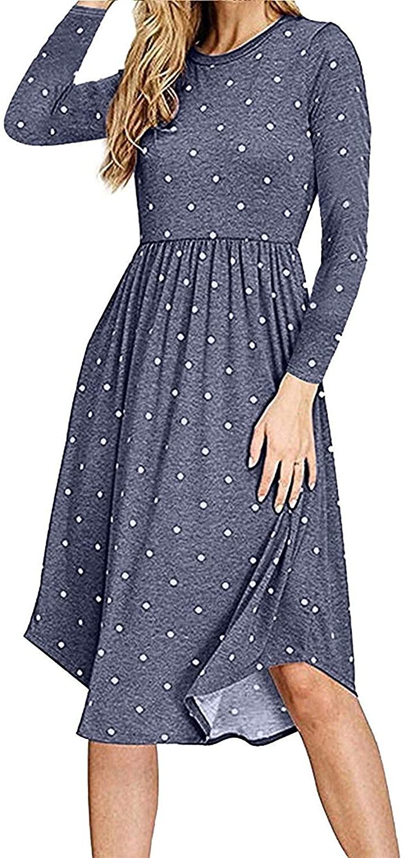 Yundai Polka Dot Pocket Dress