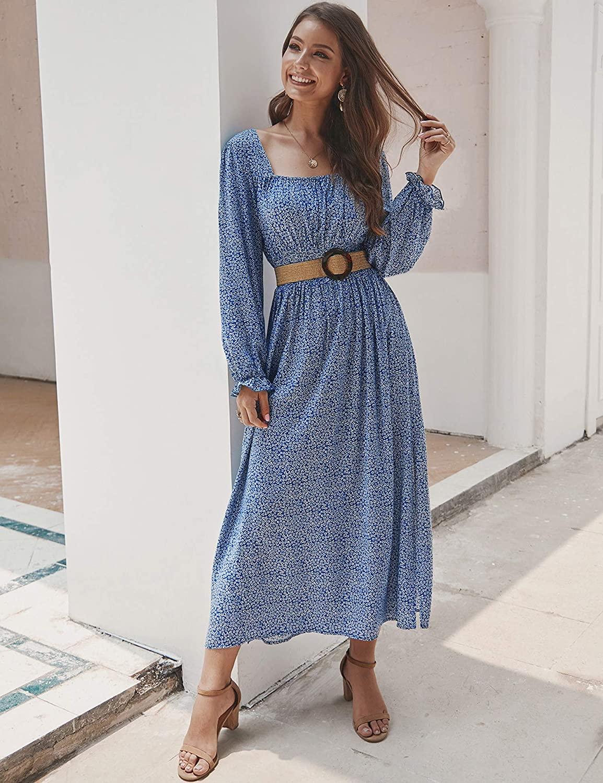 Kancy Kole Smocked Waist Maxi Dress