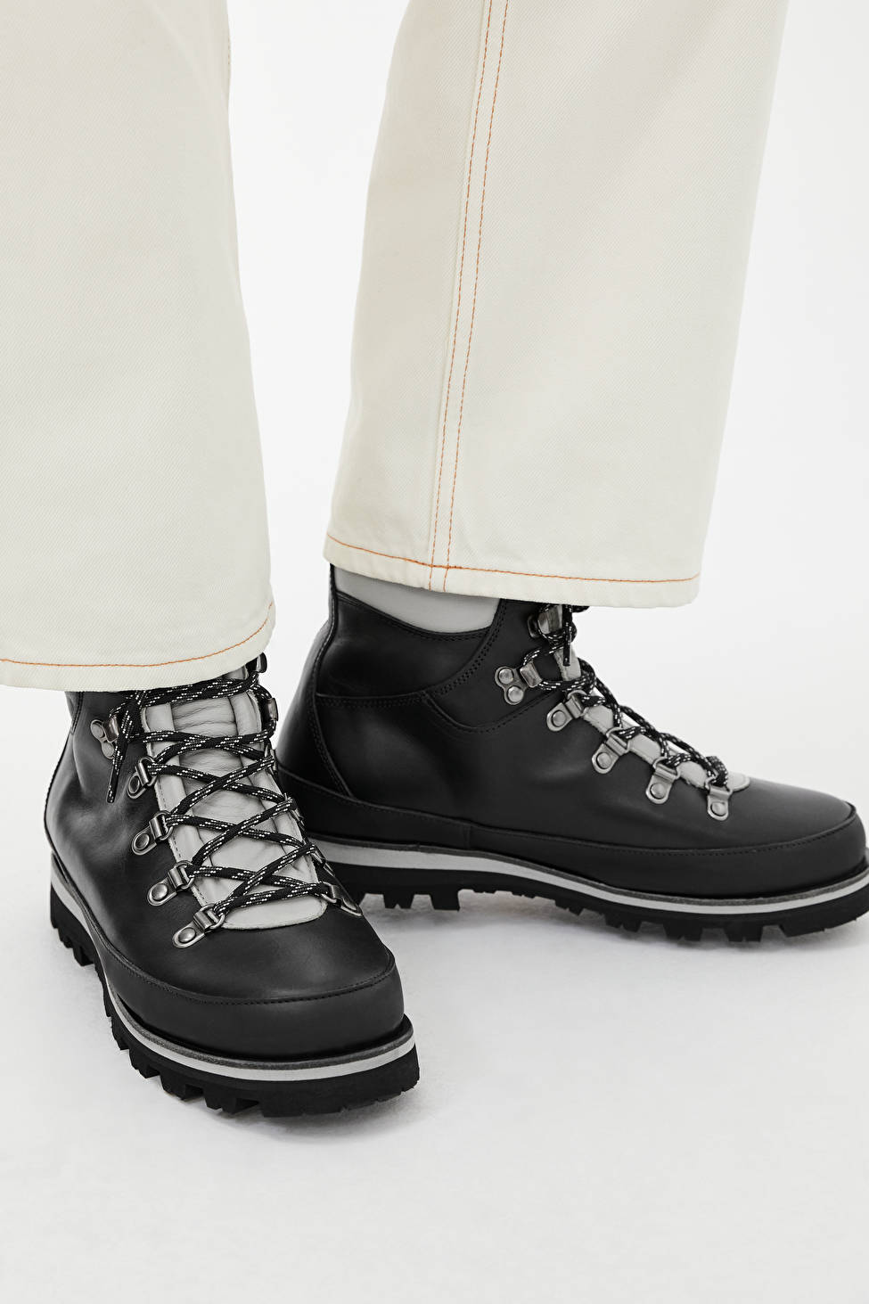 Arket + Leather Hiking Boots