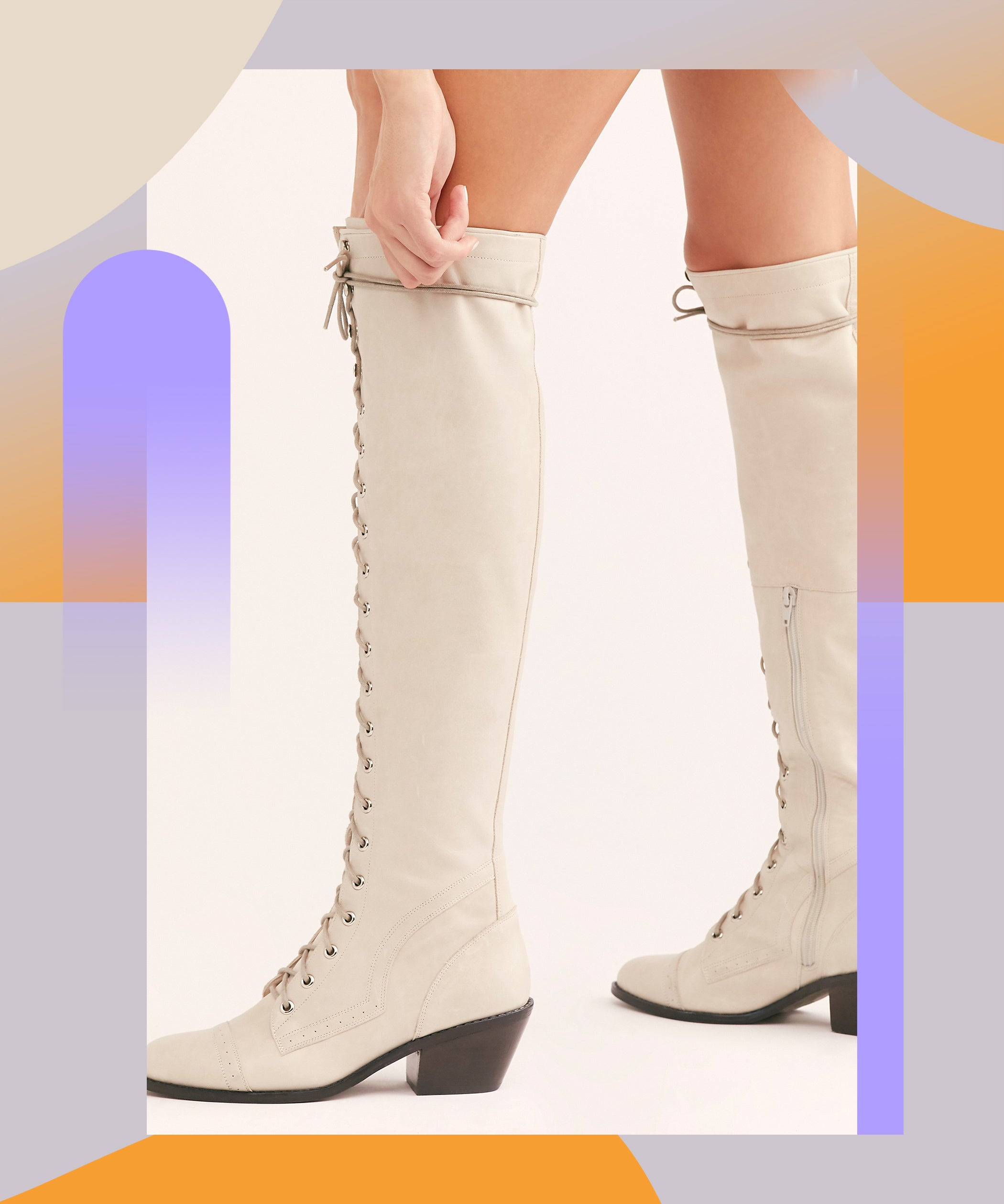 Lace Up Boots For Women Fall Winter