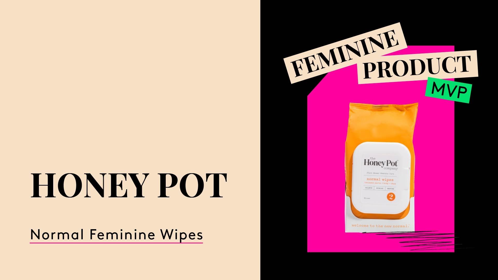 The Honey Pot Company. A photo of normal feminine wipes.