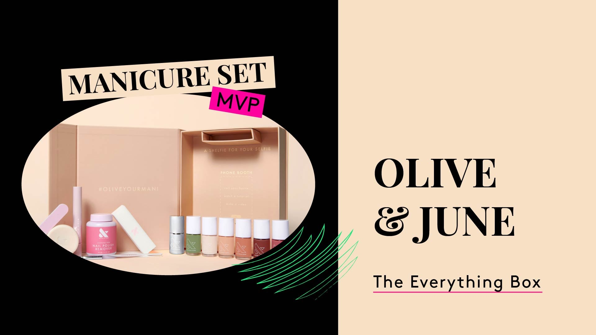 Manicure Set MVP. This is a photo of Olive and June The Everything Box.