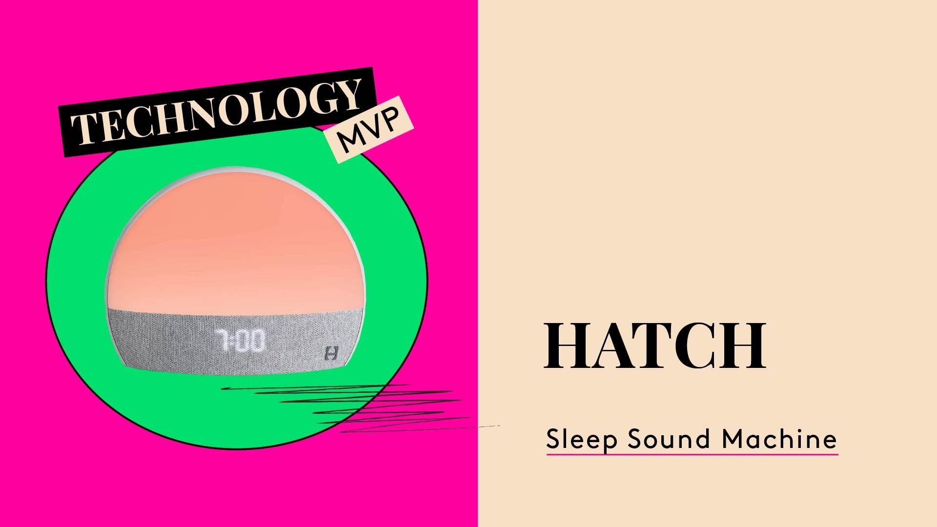 Technology MVP. This is a photo of Hatch Restore sleep machine.