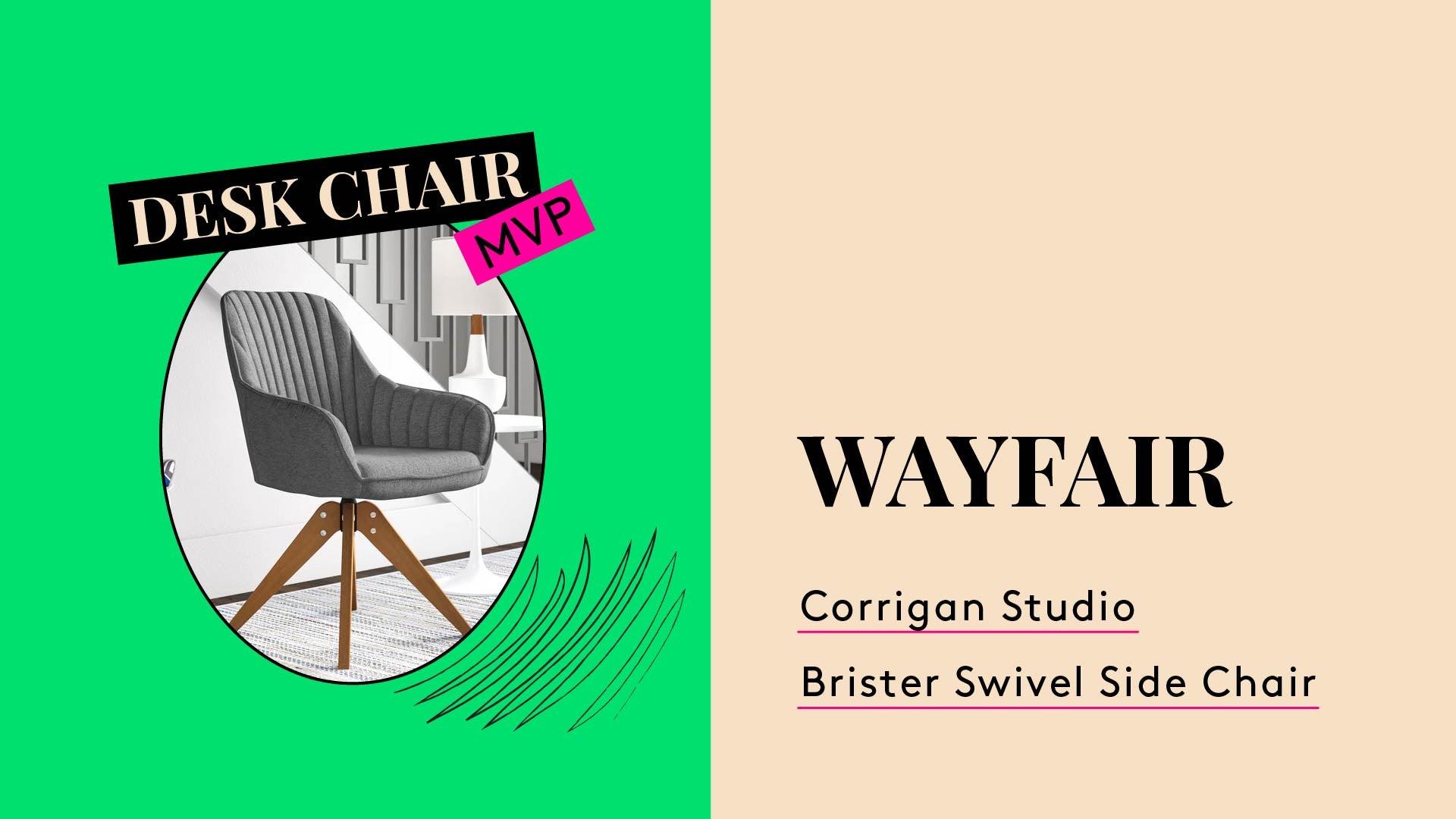 Chair MVP. This is a photo of the Wayfair Corrigan Studio Brister Swivel Chair.