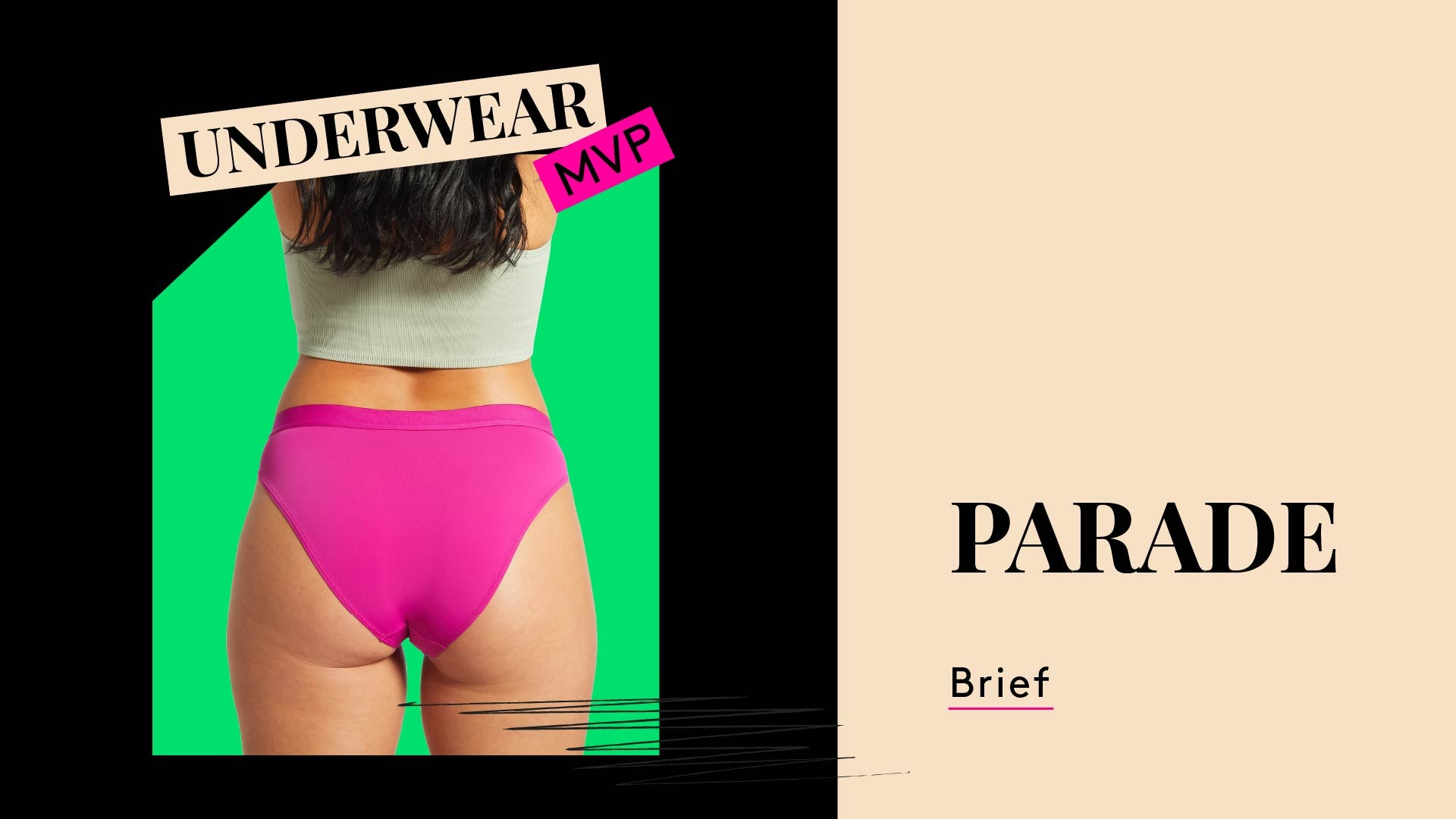 Underwear MVP. This is a photo of a woman wearing Parade Cheeky underwear brief.