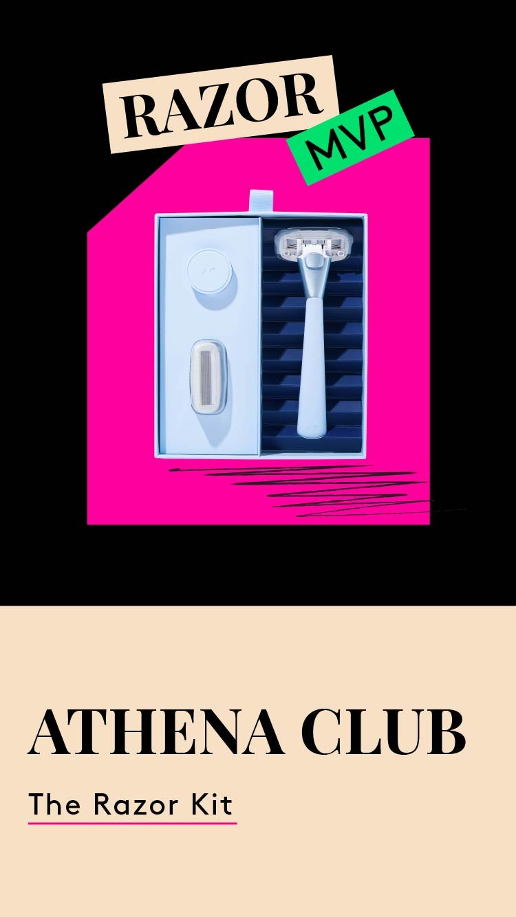 The Razor MVP. Athena Club razor starter kit photo.