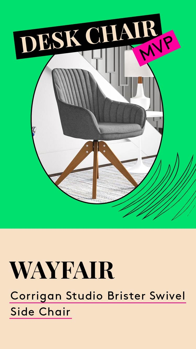Chair MVP. This is a photo of the Wayfair Corrigan Studio Brister Swivel Chair.