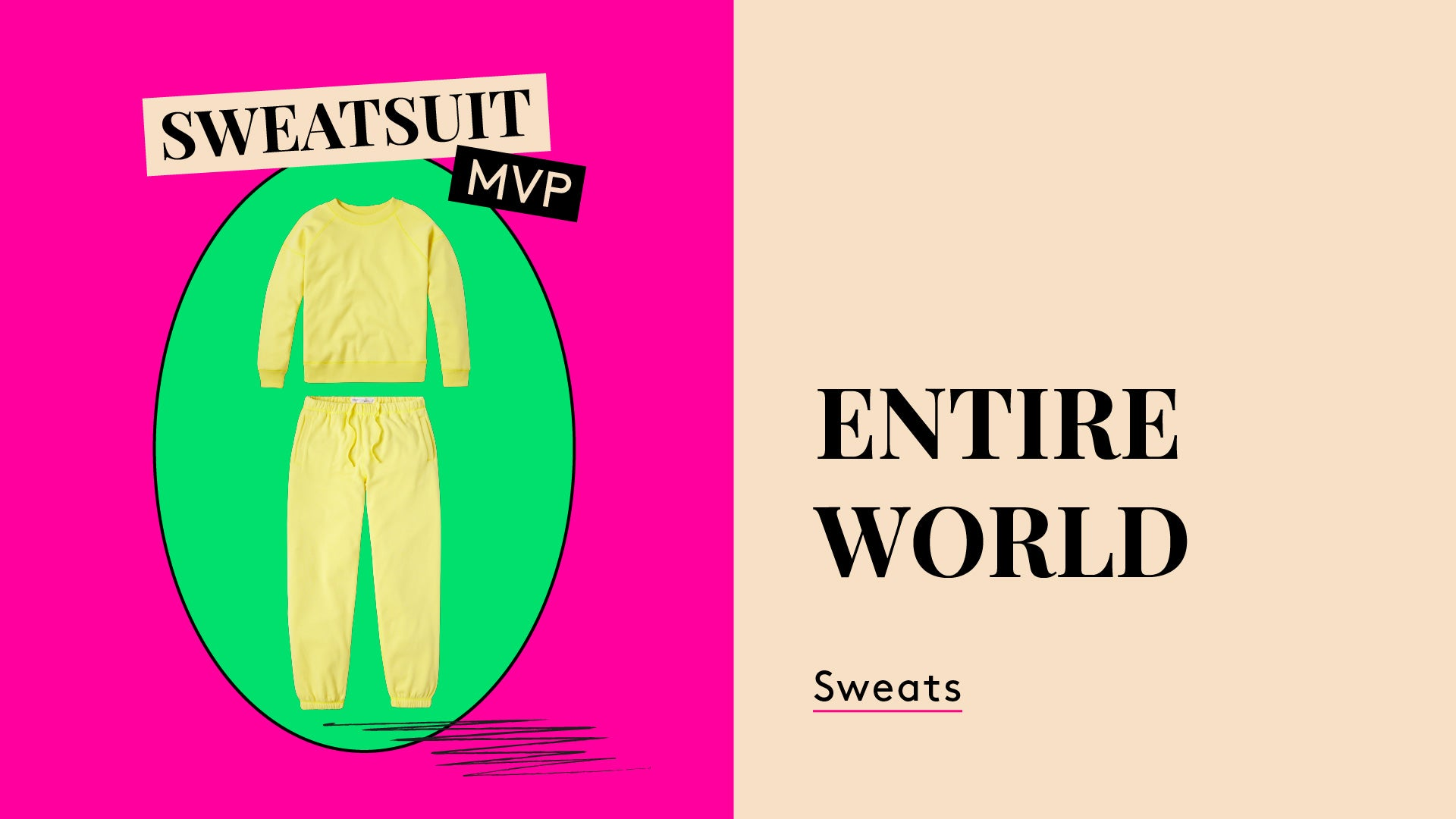 Sweatsuit MPV. A photo of a sweatsuit. The Entireworld.