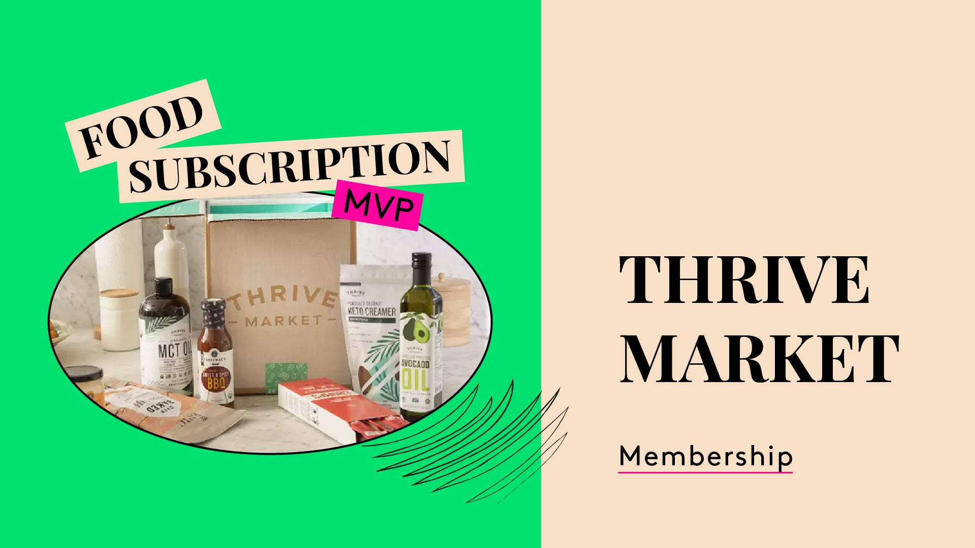 Thrive Market Food Subecription. This is a photo of a membership bundle.