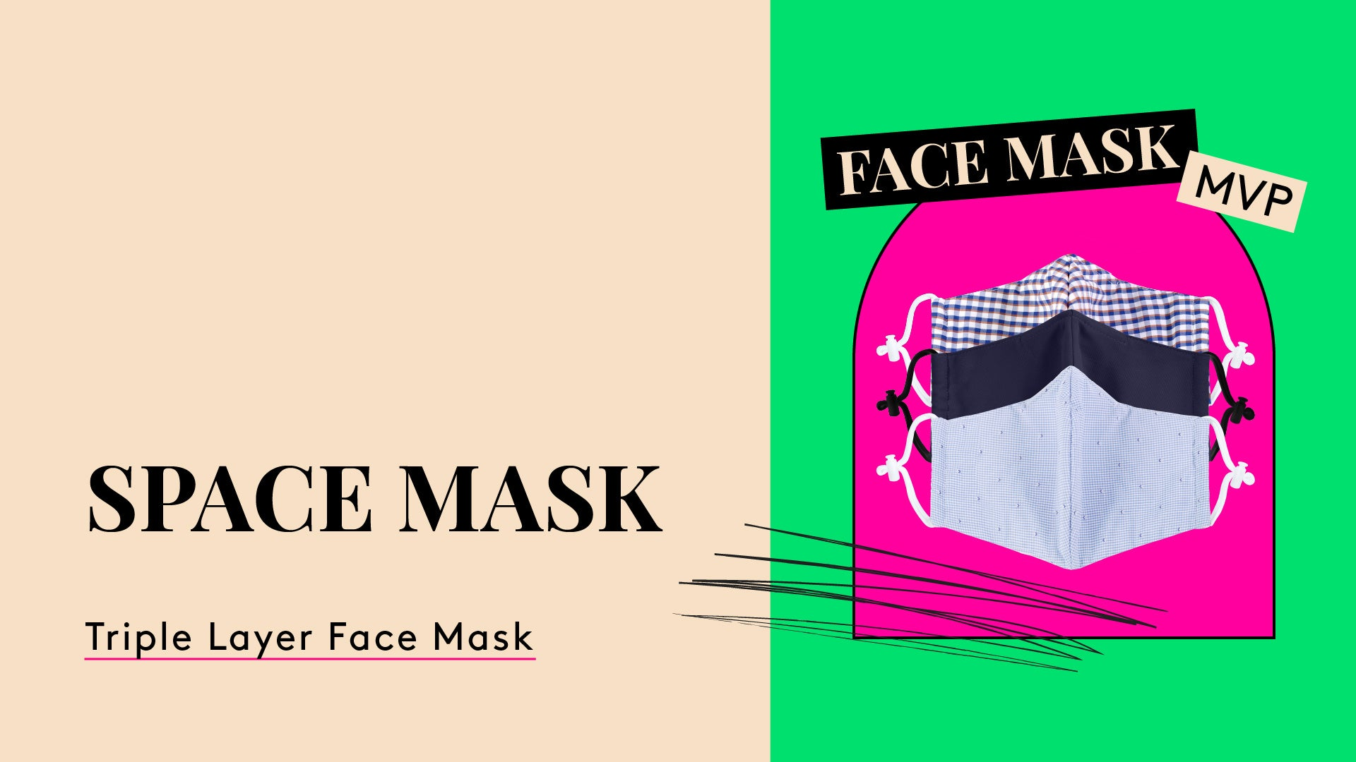 Face Mask MVP. A photo of a three pack of The Space Mask winner.