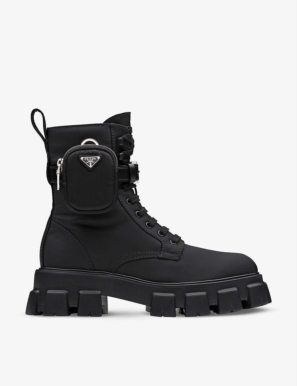 prada color block lace up boot