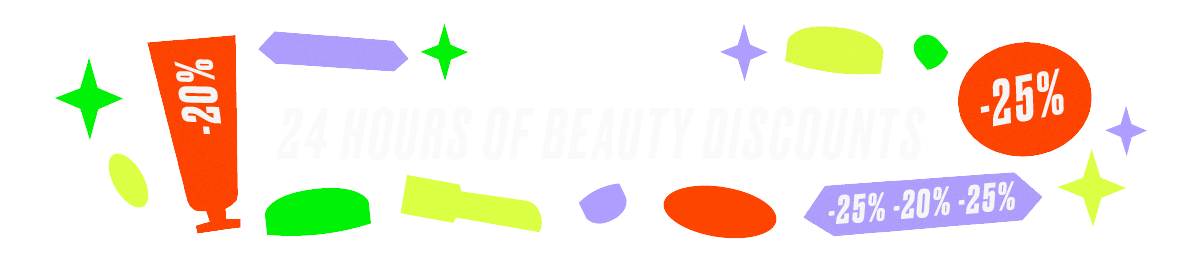 R29 Flash. 24 hours of beauty discounts.