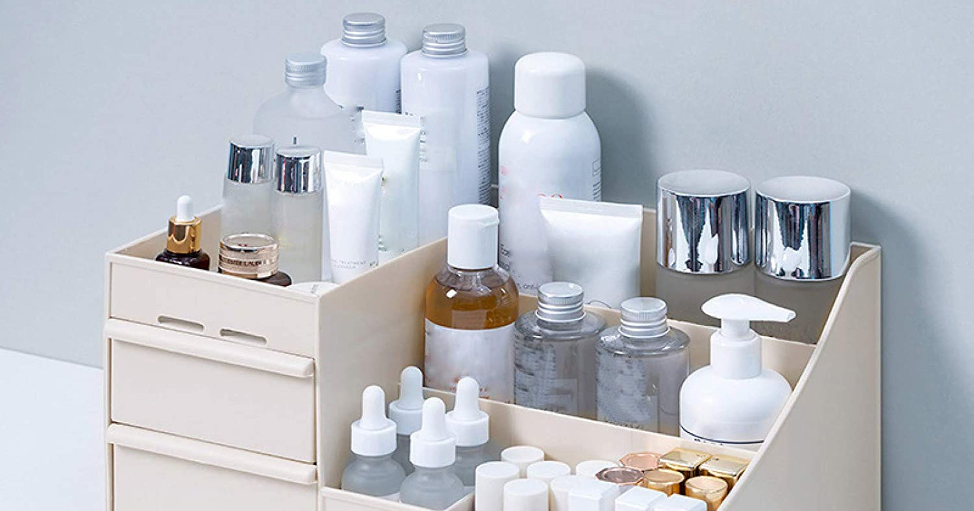 Bathroom Counter Organizers Stylish, Counter Bathroom Organizer Set