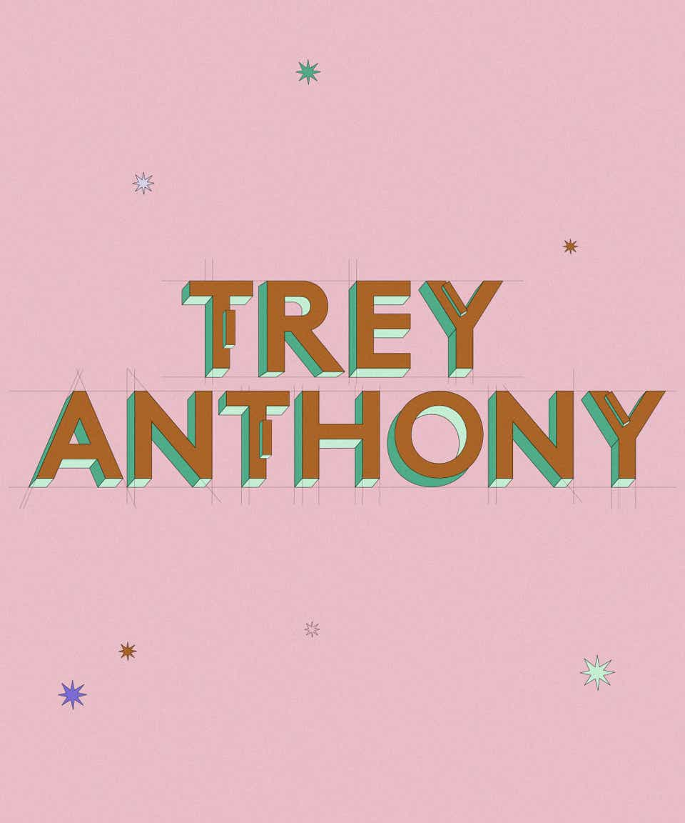 Graphic of the name Trey Anthony