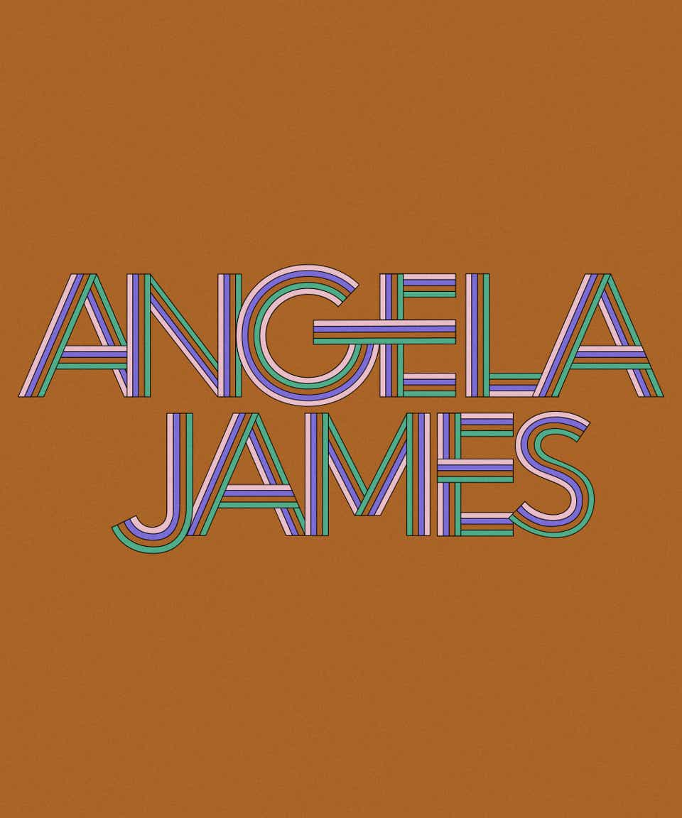Graphic of the name Angela James