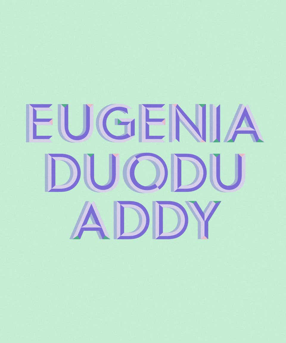 Graphic of the name Eugenia Duodu Addy