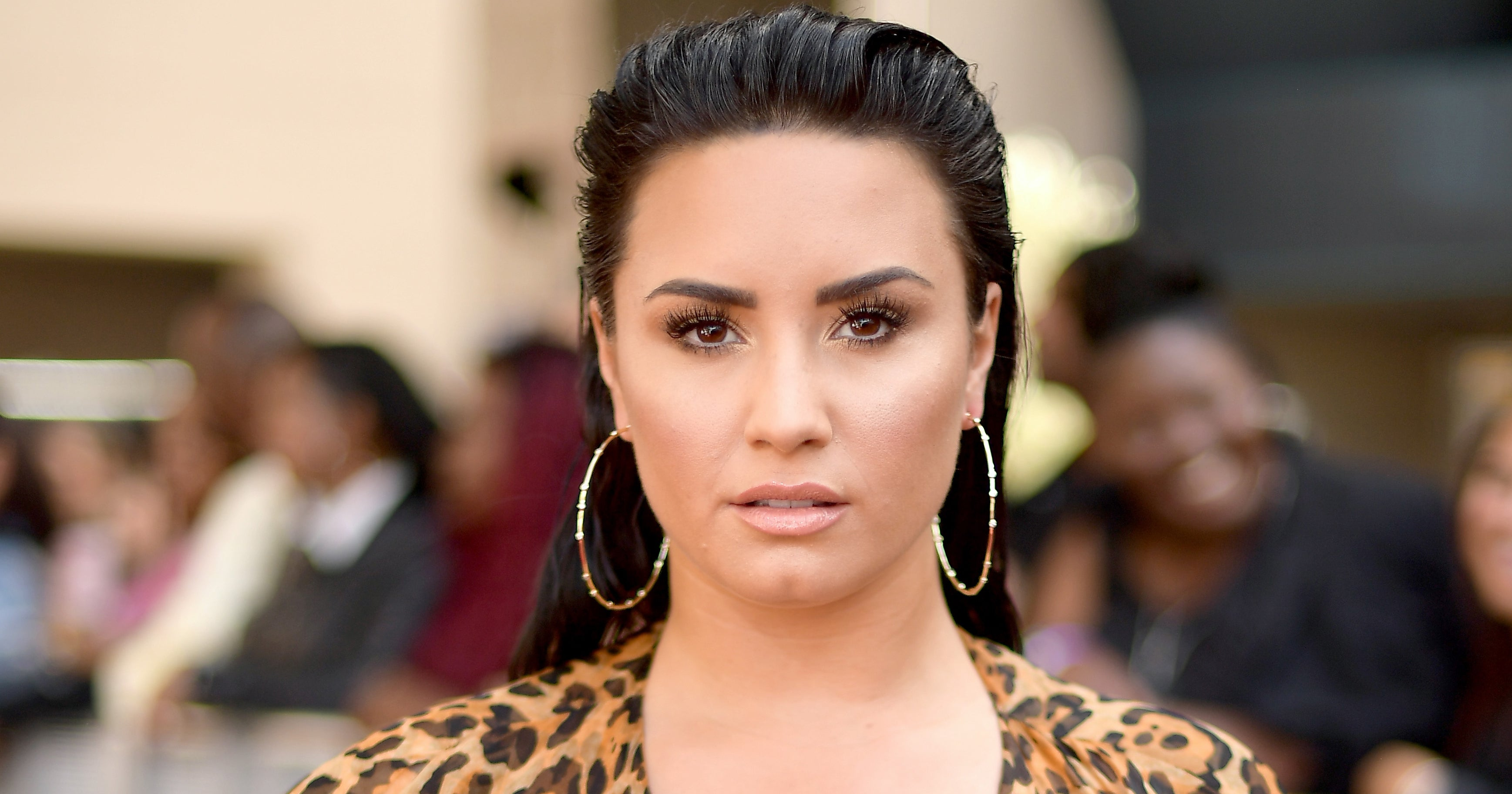 www.refinery29.com: Demi Lovato Just Low-Key Flashed Her Nipple Piercing