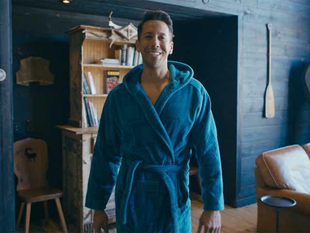 man wearing bath robe