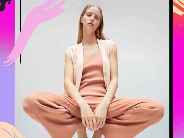 Zara model posing