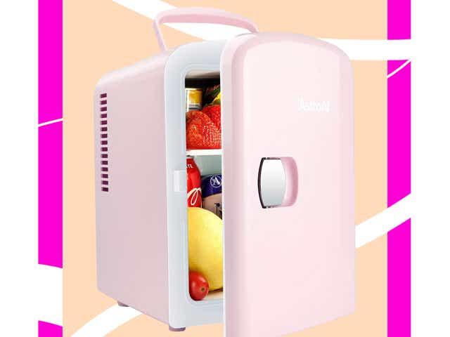 A mini fridge from Amazon