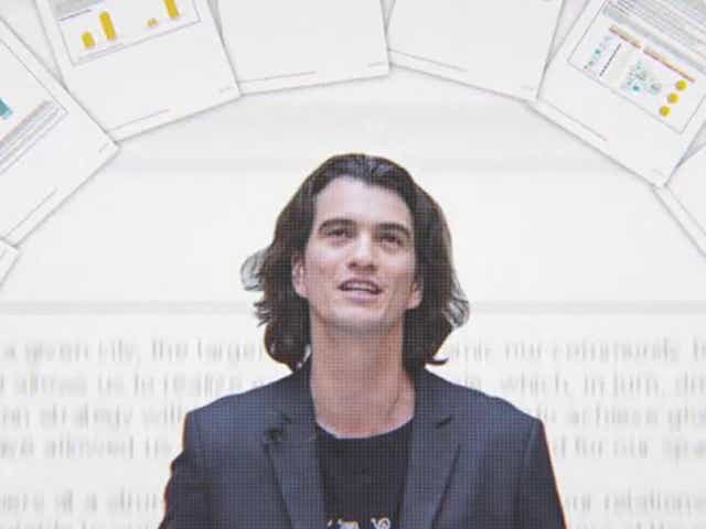 Adam Neumann gives a presentation about WeWork.
