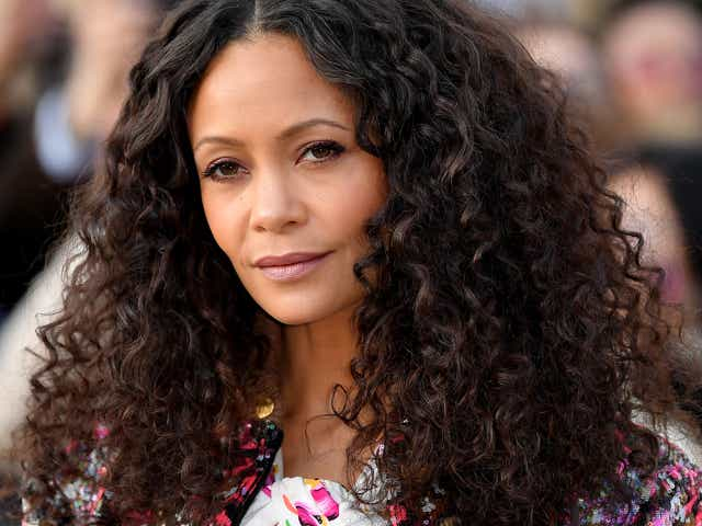 Thandie Newton attends the Louis Vuitton show as part of the Paris Fashion Week.
