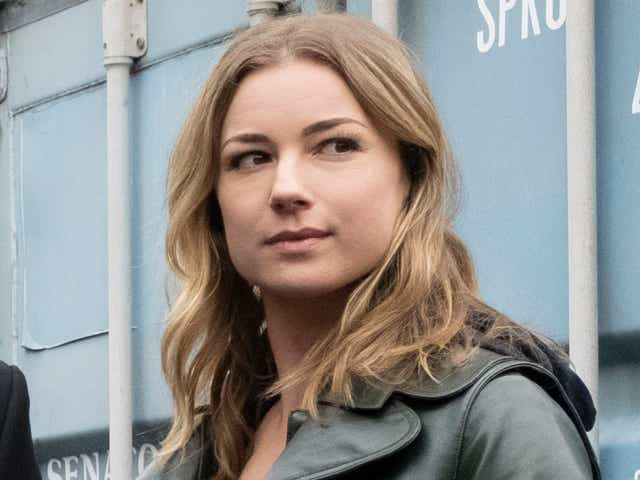 Emily Vancamp as Sharon Carter in The Falcon and the Winter Soldier.