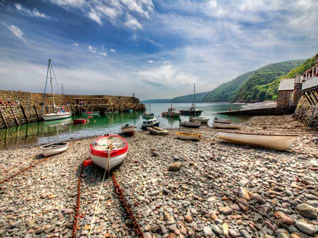 The fishing village of Clovelly in Devon.