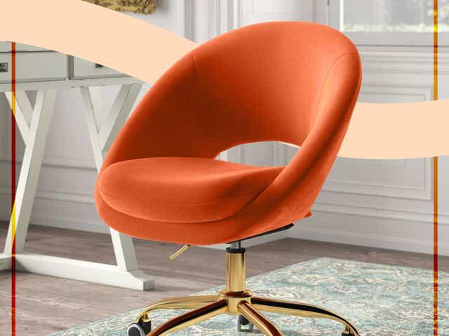Orange Kelly Clarkson Home task chair from Wayfair
