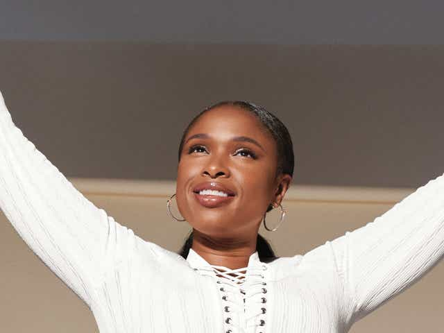 Jennifer Hudson poses as the new face of Olay.