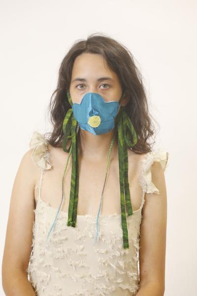 Flower Mask x Tomi Koni Turquoise