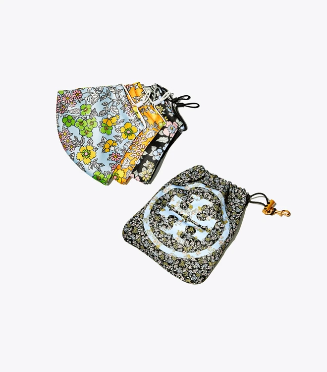 Printed Face Mask, Set of 3 With Pouch