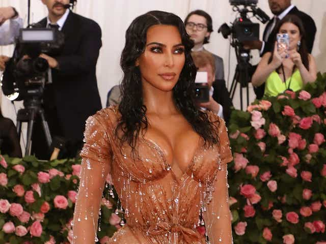 "Kim Kardashian West attends the 2019 Met Gala celebrating ""Camp: Notes on Fashion"" at The Metropolitan Museum of Art."
