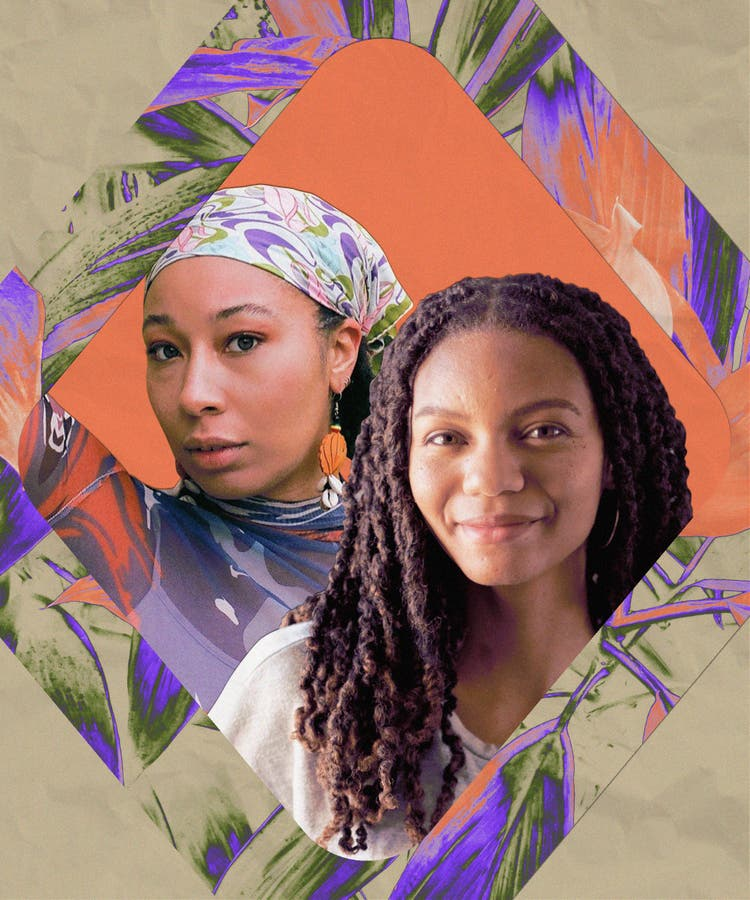 Collage with photography of Laurise Mcmillian and Leah Thomas.