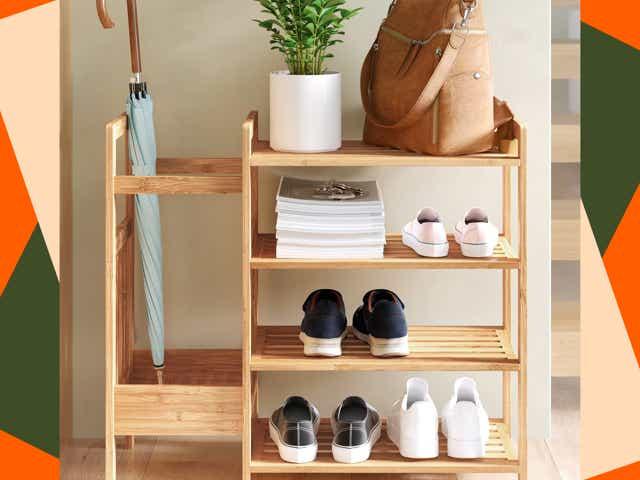 Wayfair bamboo storage bench.