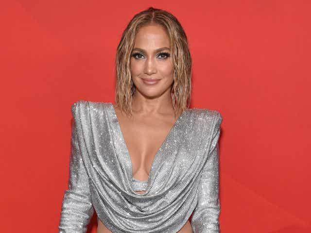 Jennifer Lopez at the AMerican Music Awards.