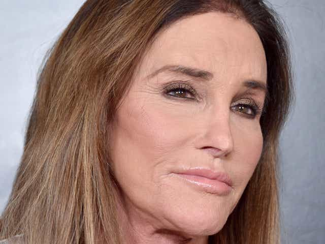 Caitlyn Jenner wearing a white shirt.