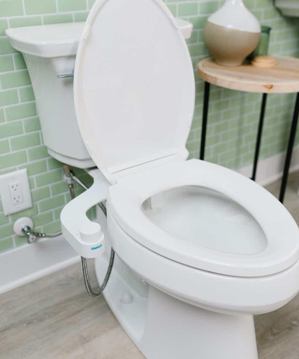 Toilet seat with bidet upgrade from Kohler.