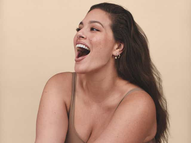 Ashley Graham poses in a new campaign for her Flamingo partnership.