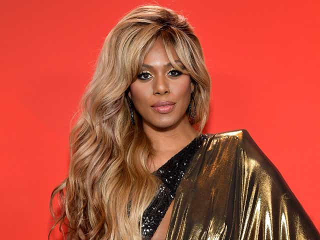 Laverne Cox attends the 2020 American Music Awards.