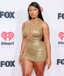 Megan Thee Stallion attends the 2021 iHeartRadio Music Awards