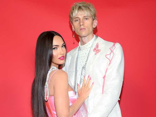 Megan Fox and Machine Gun Kelly attend the 2021 iHeartRadio Music Awards.