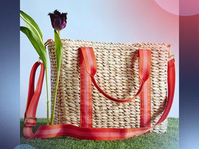 Anthropologie cooler basket bag.