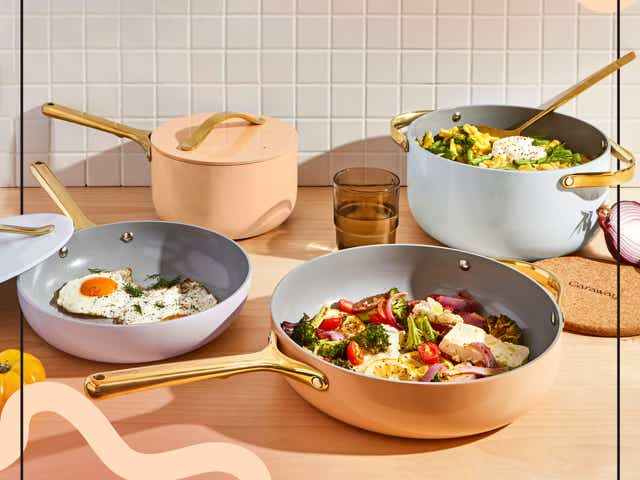 Caraway Cookware pots and pans